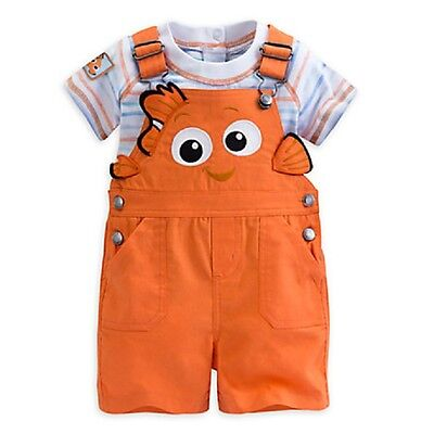 DISNEY STORE FINDING NEMO CHARACTER DUNGAREE SHORTS SET FOR BABY NWT SUPER - Baby Finding Nemo