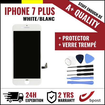 A+ LCD SCREEN SCHERM ÉCRAN WHITE BLANC & VERRE TREMPÉ + TOOLS FOR IPHONE 7 PLUS
