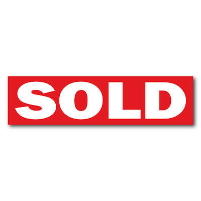 Sold Real Estate Sign Stickers 11.5 X 3 Weatherproof Vinyl Red Pack Of 25