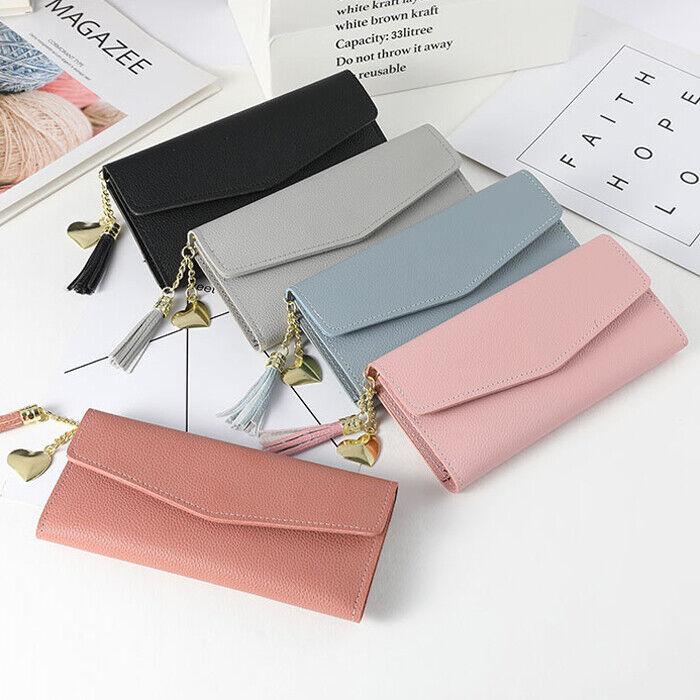 Fashion Women's Soft Leather Durable Slim Wallets Long Bifol
