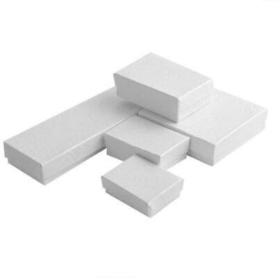 White Swirl Cotton Filled Jewelry Cardboard Box Lots of 100~200~500