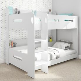 Brand New Sky White Bunk Bed - Ladder Can Be Fitted Either Side!