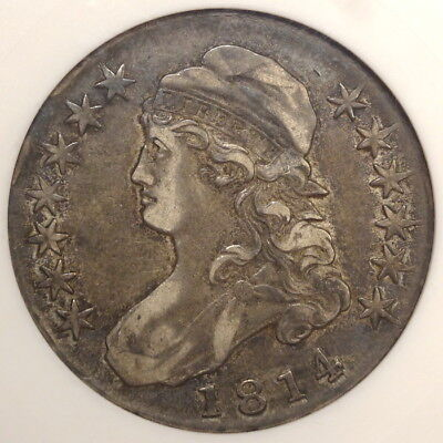 1814 Capped Bust Half Dollar, Overton-102a, Extremely Fine ANACS EF-40, Tough!