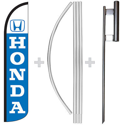 Honda 15 Tall Windless Swooper Feather Banner Flag Pole Kit