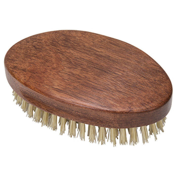 Kingsley Oval Military Style Rosewood Handle Hair Brush Natural Bristle
