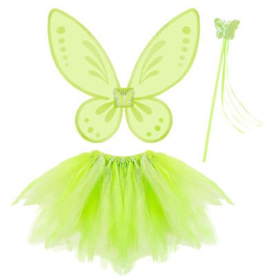 NEU Kostüm-Set magische Fee, grün, 3-tlg. (Märchen Kostüme)