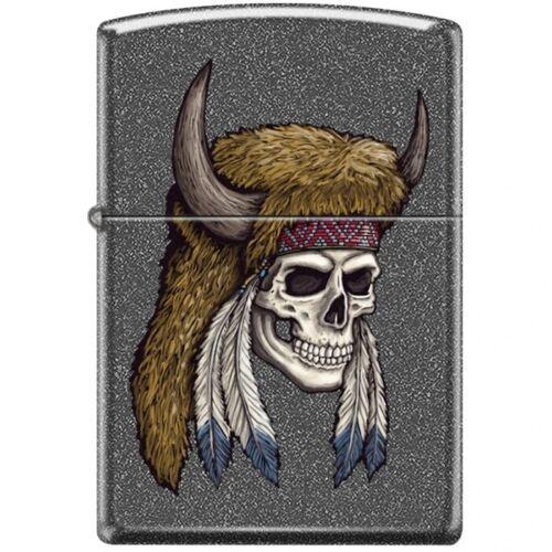 Zippo Lighter - Bison Skull Iron Stone - 854449
