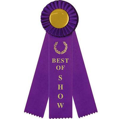 Best of Show Rosette Award Ribbon {Purple} - 3 Streamer - 10