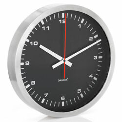 Blomus ERA Wall Clock Stainless Steel Round Black 15 inch Home Office Decor 40cm