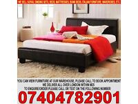 BRAND NEW Single/Double/Kingsize Leather Bed with 8inch Dual-Sided Economy Mattress