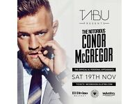 2 Conor McGregor Tickets for El Divino in Belfast on Saturday night (sold out)