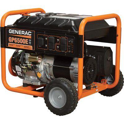 NEW GENERAC - SERIES GP6500E PORTABLE GENERATOR
