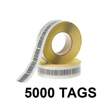 5000 Pcs Eas Checkpoint Barcode Soft Label Tag 8.2 3 X 4 Cm 1.18 X 1.57 Inch