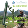 Military Filter Straw Water Purify Lightweight Camping Backpacking equipment