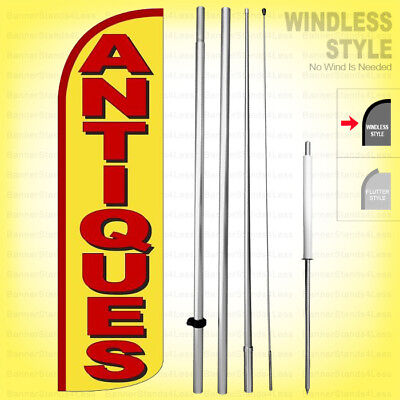 Antiques - Windless Swooper Flag Kit 15 Feather Banner Sign Yq-h