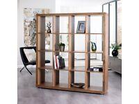 Dwell Porto sixteen cube shelving walnut / shelf cabinet bookcase