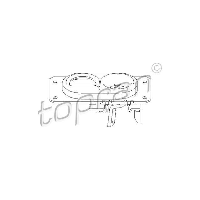 TOPRAN Bonnet Lock 107 406