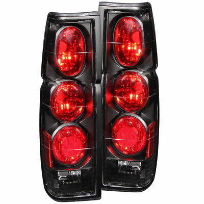 Anzo USA Euro Taillights G2 Black for Nissan Hardbody 1986-1997