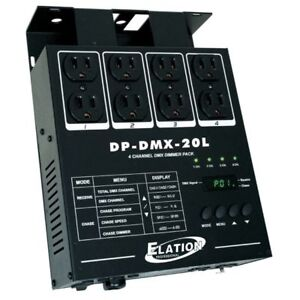 LIKE NEW ELATION DP-DMX20L 4 channel DMX Dimmer Pack