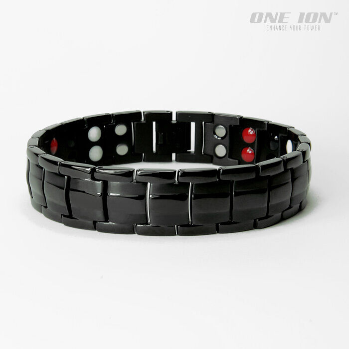One Ion Black Force 4-in-1 Power Magnetic Bracelet Ion Ba...