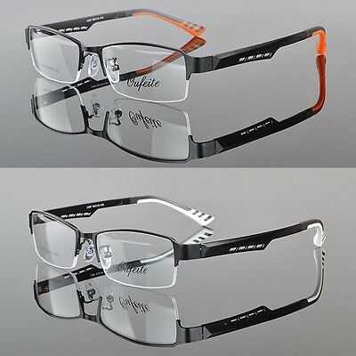 Men TR90 Half rimless sport Glasses Eyeglass Optical Spectacles RX Eyewear Frame
