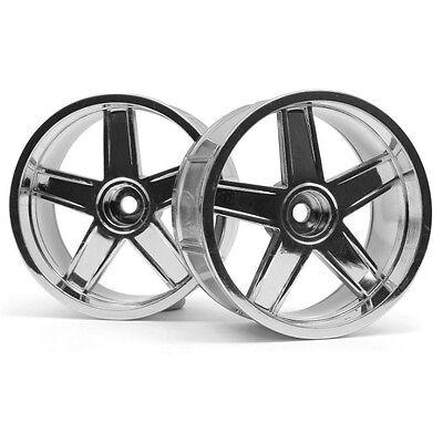Hpi 33478 Lp35 Wheel Mf Type Chrome 9Mm Offset  2  Sprint 2   E10   Nitro 3
