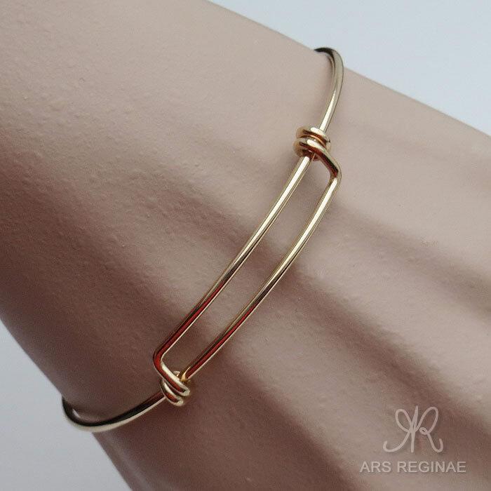 STABIL & SPORTLICH ● Armreif Armspange (für Charm geeignet) ygf 14k Gold 585