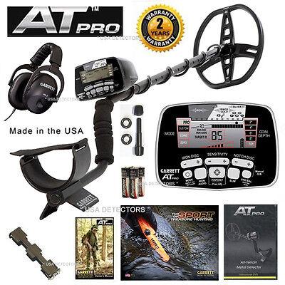 Garrett AT Pro Metal Detector Underwater USA Version with MS-2 Headphones