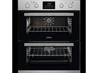 Zanussi Built under Multifunction Double oven ZOF35802XK Black & 5 Burner Gas Hob -both brand new!
