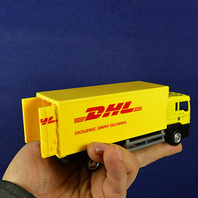 Scale 1 64 Diecast Container Truck Model Yellow For Express Dhl Toys Gift