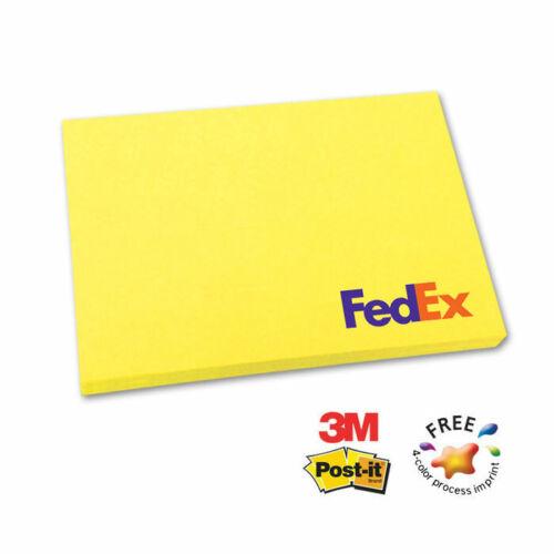 "PASTEL 3M POST-IT NOTE PADS, 3""x4"", 25 sheets - 500 quantity - Custom Printed"