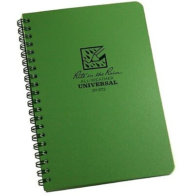Rite In The Rain 973 All-weather Universal Spiral Notebook Green 4 58 X 7