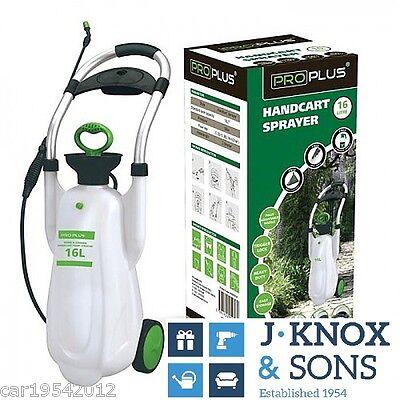 16 litre Handcart Pump Garden Lawn Sprayer Weed Chemical Pesticide Spray Proplus
