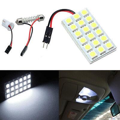 12V 18 SMD 5050 LED T10 BA9S Dome Festoon Car Interior Light Panel Lamp