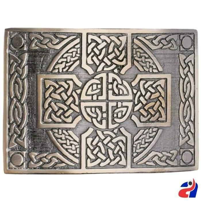 Scottish Kilt Belt Buckle Cross Knot Antique Finish Highland Celtic Buckles