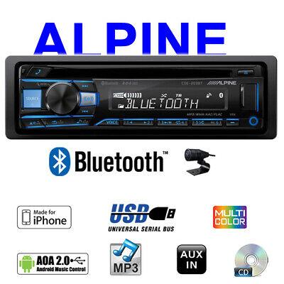 Alpine CDE-203BT | Bluetooth | CD/USB/MP3 1-DIN MultiColor RADIO AuxIn Autoradio
