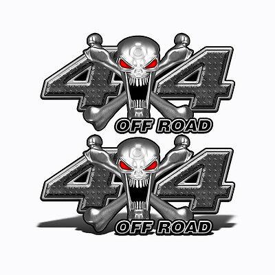 4x4 OFF ROAD Decals BLACK ALIEN SKULL Vinyl Graphic Truck Accessories Mk400OR4