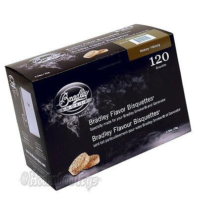 Hickory Flavor - Bradley Hickory Flavor Bisquettes Smoker Chips 120 pcs - BTHC120