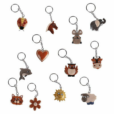 Schlüsselanhänger Tier Holz Tiere handbemalt Kinder Motiv nach Wahl
