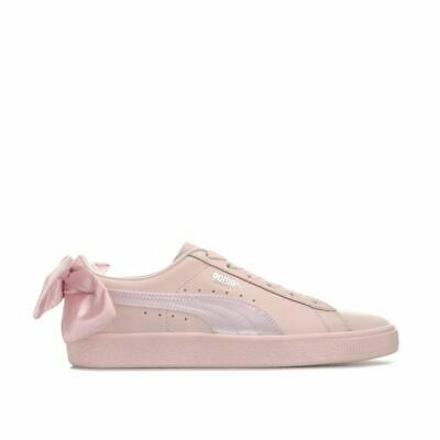 Women's Puma Basket Bow Cushioned Breathable Trainers in Pink