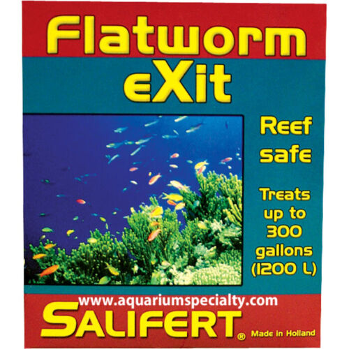 Salifert Flatworm Exit Reef Safe Medication .35oz up to 300G Exp 10/2023