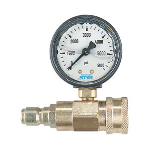 NorthStar Pressure Washer Pressure Gauge-5000 PSI 3/8in Fitting #CD-QCG-5000