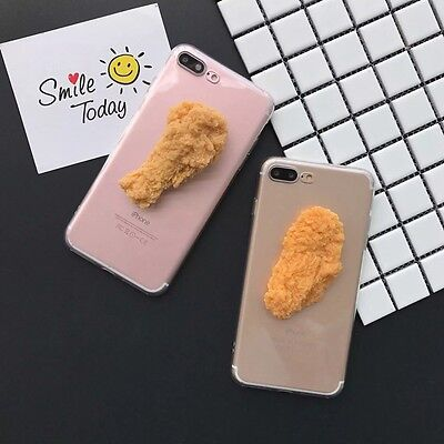 For Iphone 7 7 Plus 6S Plus 3D Simulation Food Hot Wings Handmade Couple Case