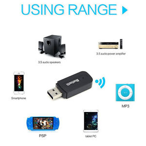 BLUETOOTH CONNECT WIRELESSLY TO ANY DEVICE USB MINI JACK NEW