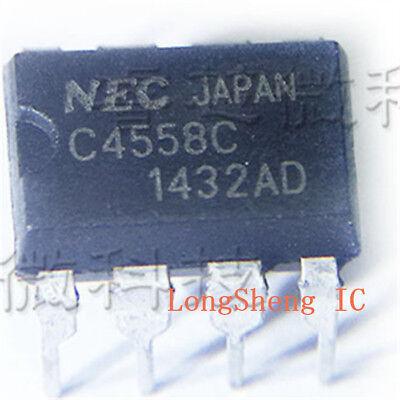 10pcs Upc4558c C4558c High Performance Dual Operational Amplifier Dip8 New