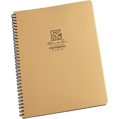Rite In The Rain 973t-mx All-weather Universal Spiral Notebook Tan 8.5 X 11