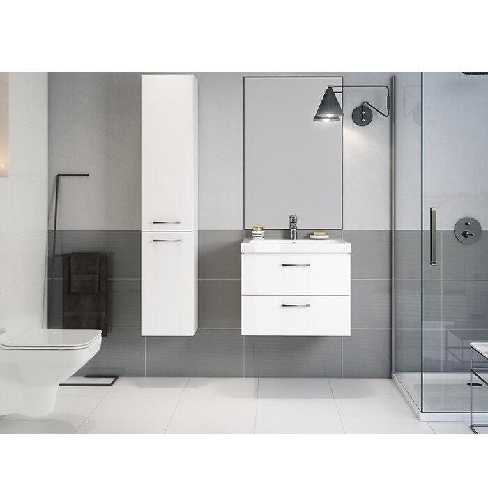 VBCbad® Badmöbel Waschbecken mit Unterschrank Waschtisch Schubladen Weiß LARA