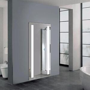 Full Length LED Silvered Mirror with Touch Button - 65 x 24""