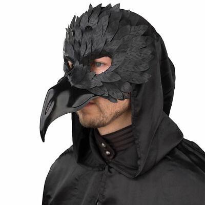 em Schnabel und Federn, schwarz, Halloweenkostüm Maske (Halloween-maske Und Kostüme)