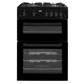 Beko KDG611K 60cm Double Oven Gas Cooker in Black
